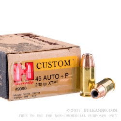 20 Rounds of .45 ACP Ammo by Hornady - 230gr JHP