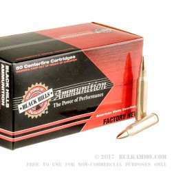 50 Rounds of .223 Ammo by Black Hills Ammunition - 55gr FMJ