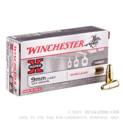 500  Rounds of 9mm Ammo by Winchester - 124gr BEB