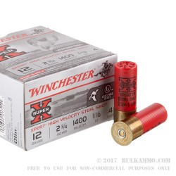 "25 Rounds of 12ga Ammo by Winchester Super-X Xpert HV - 2-3/4"" 1 1/8 ounce #4 shot"