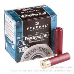 "25 Rounds of 12ga 3-1/2"" Waterfowl Ammo by Federal - 1 3/8 ounce #2 Shot (Steel)"
