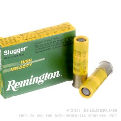 "5 Rounds of 20ga High Velocity Ammo by Remington - 2-3/4"" 1/2 ounce Rifled Slug"