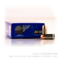 1000 Rounds of .380 ACP Ammo by Silver Bear - 94gr FMJ