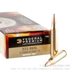 500  Rounds of .223 Ammo by Federal Tactical - 55gr SP