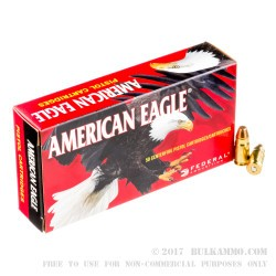 50 Rounds of .357 SIG Ammo by Federal - 125gr FMJ
