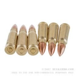 500  Rounds of 7.62x39mm Ammo by Golden Bear - 123gr FMJ