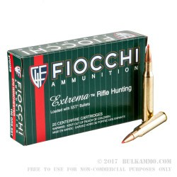 20 Rounds of .270 Win Ammo by Fiocchi Extrema - 150gr SST