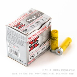 250 Rounds of 20ga Ammo by Winchester - 3/4 ounce #7 Shot (Steel)