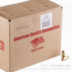 500 Rounds of .40 S&W Ammo by American Quality Ammunition - Remanfactured - 180gr FMJ