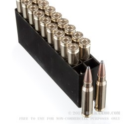20 Rounds of .308 Win Ammo by Hornady American Whitetail - 165gr InterLock SP