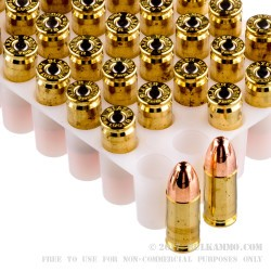 350 Rounds of 9mm Ammo by Blazer Brass In Plano Can - 115gr FMJ