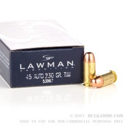 1000 Rounds of .45 ACP Ammo by Speer - 230gr FMJ