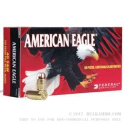 1000 Rounds of 9x18mm Makarov Ammo by Federal American Eagle - 95gr FMJ