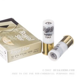 "5 Rounds of 12ga Ammo by Rio - 2-3/4"" 1 1/8 ounce Rifled Slug"