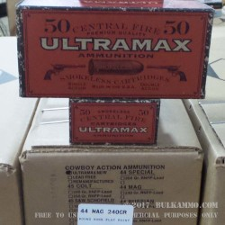 50 Rounds of .44 Mag Ammo by Ultramax - 240gr LFN