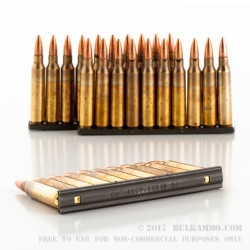 900 Rounds of XM193 5.56x45 Ammo by Federal - 55gr FMJBT - Stripper Clips