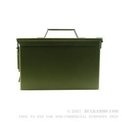 1 Brand New Mil-Spec 50 Cal M2A1 Green Ammo Can