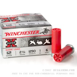 25 Rounds of 12ga Ammo by Winchester - 1 ounce #6 lead shot