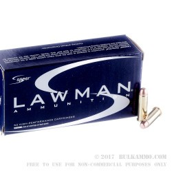 1000 Rounds of .38 Spl Ammo by Speer Lawman - 125gr TMJ