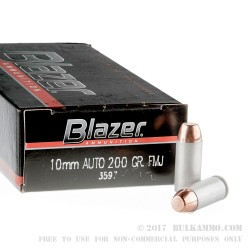 1000 Rounds of 10mm Ammo by CCI - 200gr FMJ