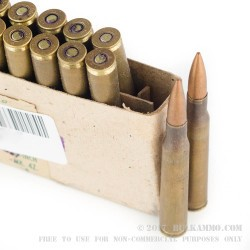 16 Rounds of 30-06 Springfield Ammo by Prvi Partizan - 150gr FMJ