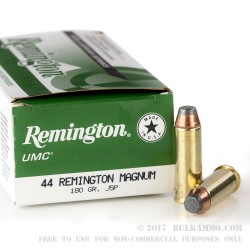 500  Rounds of .44 Mag Ammo by Remington - 180gr JSP
