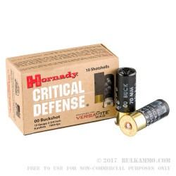 100 Rounds of 12ga Ammo by Hornady -  00 Buck