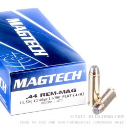 1000 Rounds of .44 Mag Ammo by Magtech - 240gr SJSP