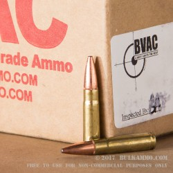 250 Rounds of .300 AAC Blackout Ammo by BVAC - 168gr Fusion