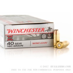 500  Rounds of .40 S&W Ammo by Winchester - 180gr BEB