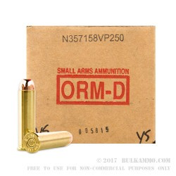 250 Rounds of .357 Mag Ammo by American Quality Ammunition - 158gr FMJ