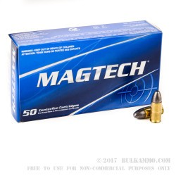 1000 Rounds of 9mm Ammo by Magtech - 124gr LRN