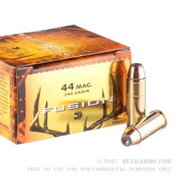 20 Rounds of .44 Mag Ammo by Federal - 240gr Fusion