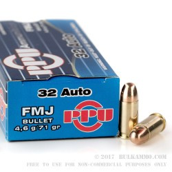 600 Rounds of .32 ACP Ammo by Prvi Partizan - 71gr FMJ