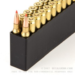 20 Rounds of .308 Win Ammo by Hornady Custom Lite - 125gr SST