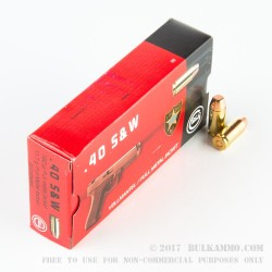 1000 Rounds of .40 S&W Ammo by GECO - 180gr FMJ