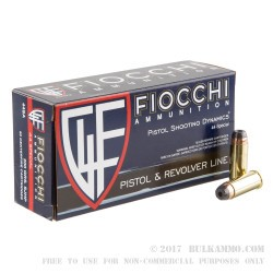 500 Rounds of .44 S&W Spl Ammo by Fiocchi - 200gr SJHP