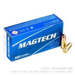 50 Rounds of 9mm Ammo by Magtech - 124gr JSP