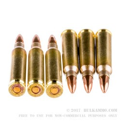 20 Rounds of .223 Ammo by Wolf Gold - 55gr FMJ