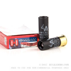 5 Rounds of 12ga Ammo by Hornady - 325gr Sabot Slug