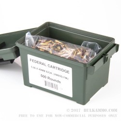 500  Rounds of 5.56x45 Ammo by Lake City - 62gr FMJ M855