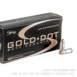 1000 Rounds of .357 SIG Ammo by Speer LE Gold Dot - 125gr HP