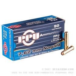 500  Rounds of 7.62x38mm Nagant Ammo by Prvi Partizan - 98gr FMJFN