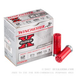 25 Rounds of 12ga Ammo by Winchester - 1 1/8 ounce #6 Shot (Steel)