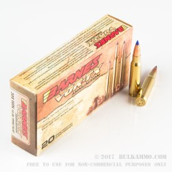 200 Rounds of .308 Win Ammo by Barnes VOR-TX - 150gr TTSX