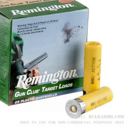 25 Rounds of 20ga Ammo by Remington Gun Club - 7/8 ounce #9 shot