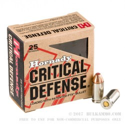 25 Rounds of 9x18mm Makarov Ammo by Hornady - 95gr JHP