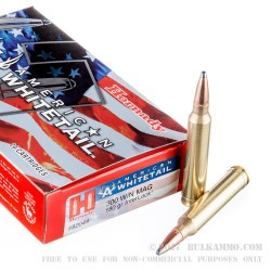 20 Rounds of .300 Win Mag Ammo by Hornady American Whitetail - 180gr Interlock