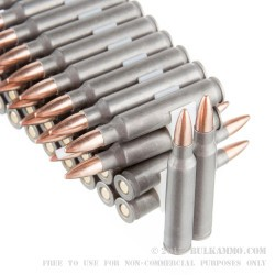 100 Rounds of .223 Ammo by Tula - 62  Grain FMJ