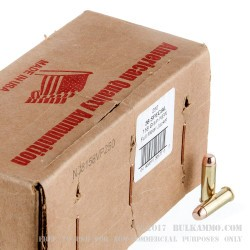 250 Rounds of .38 Spl Ammo by American Quality Ammunition - 158  Grain FMJ